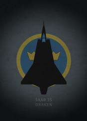 saab 35 draken fighter jet jetfighter weapon war aircraft airplane combat dark black sweden
