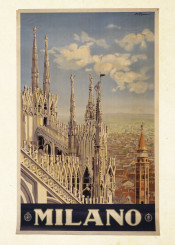 vintage,poster,travel,travelposter,milano,italy
