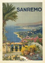vintage,poster,travel,travelposter,italy,sanremo
