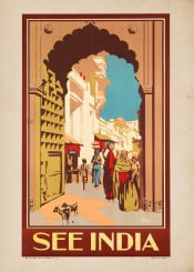 vintage,poster,travel,travelposter,india