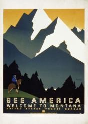 vintage,poster,travelposter,travel,america,mountains