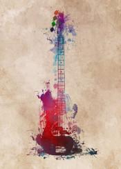 guitar guitars guitarist jbjart music instrument instruments digital decor decoration illustration