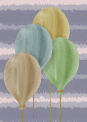 balloons colour colours color air sky rope