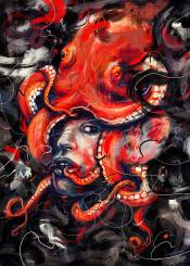 octopus portrait painting