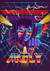 bttf mcfly timetravel 80s retro synthwave neons