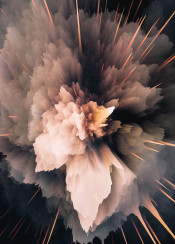 abstract digital color colorful burst explosion warm orange pink yellow smoke moody space galaxy nebula spiky graphicdesign design