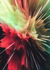 abstract digital color colorful burst explosion yellow red green spiky moody smoke 3d graphicdesign space nebula galaxy power powerful