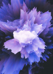 abstract digital color colorful burst explosion cold ice arctic flower smoke spiky 3d moody space galaxy nebula blue purple power powerful graphicdesign