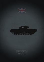 churchill mark vii tank panzer weapon war armor world dark black british uk great britain