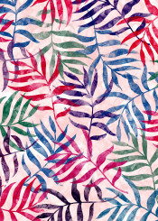 tropical leaf palm tree summer lovely watercolor abstract pattern painting
