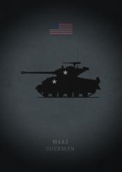 m4a3 sherman tank armor panzer weapon war gun usa armerican dark black