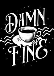 twinpeaks coffee caffeine drink cup black white blacklodge davidlynch cooper dalecooper owls tv show firewalkwithme funny humor haha lol graphic design drinking beverage minimal minimalism text typography