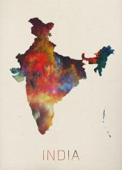 india indian watercolor map newdelhi bombay