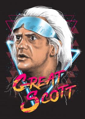 Doc Great Scott Metal Artwork Poster