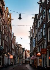 amsterdam morning city europe sunrise