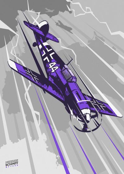 Eden Design Warplanes   Displate Prints on Steel