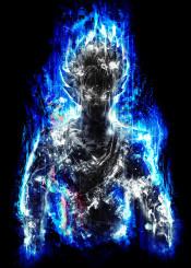 dragonball super dbz dragonballsuper goku god trance supersaiyan supersaiyangod power jiren fighter tournament silver blue