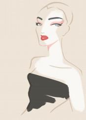 fashion portrait ballet minimalism style beauty chic makeup simplicity fashionart