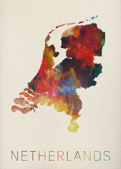 netherlands map watercolor thenetherlands amsterdam