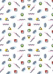 retro pattern shapes geometric colour vintage lines