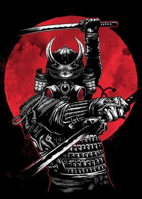 Samurai posters - metal posters - Displate