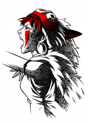 princess warrior forest spirit away studio anime manga woman firl wolf