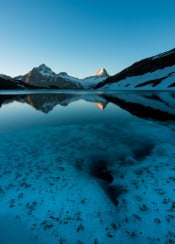 lake bachalpsee switzerland nature mountains sky clouds clear