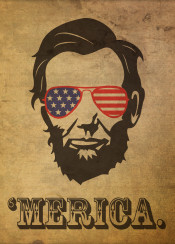 lincoln president abraham merica america usa patriotic parody humor abe honest