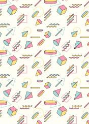 pattern shapes colour retro 90 vintage pastel