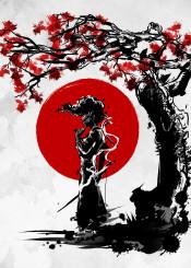 afrosamurai afro samurai japan anime manga nature