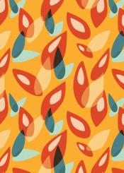 leaves leaf nature pattern geometric color colorful retro modern vector illustration autumnal fall season seasonal decorative whimsical pretty orange yellow