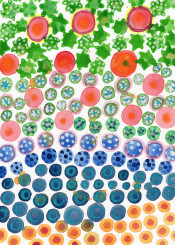 colorful circles stars watercolor beautiful green red blue dots lovely vivid color abstract cool