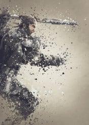 ark survival evolved gaming man spear dinosaur splatter effect work