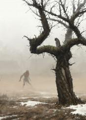 werewolf werewolves jakubrozalski illustration painting atmosphere wolfpack dark fantasy scary
