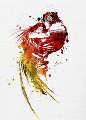 final fantasy viii v video game gaming red yellow ff ffviii symbol logo emblem cover paint painting canvas splat splatter