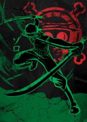 pirate hunter pirates straw hat hats ink inking skull jolly roger red green japan japanese china zoro luffy nami swords swordsman ship cool blade cut cross bone vintage kanji