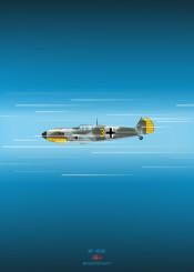 messerschmitt bf109 fighter plane airplane combat weapon war world german diagram blueprint schematic