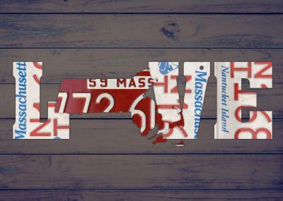 Design Turnpike State License Plate Love Phrases   Displate Prints on Steel