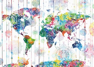 bekim mehovic world maps   Displate Prints on Steel