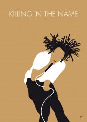 minimal minimalist famous music artwork song alternative graphic design rock chungkong fan star quote inspiration celebrity band institutional killing name rage against machine metal hip hop zack la rocha 1992 90s
