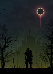 dark souls demon demons warriors landscapes warrior bloodborne kk kkcreative sword landscape black displate posters game gaming games video room castle moon darkness night hero heroes knight knights army armor magic