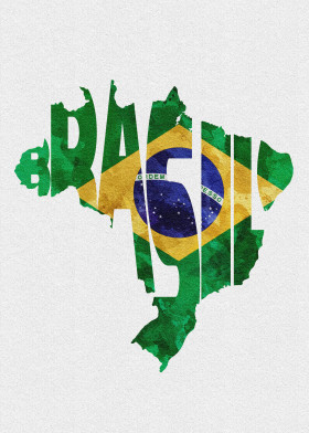 Typo flag map gallery gd by graphix displate displate brasil brazil map flag typography minimal travel wanderlust home housewarming typographic homeland gumiabroncs Images