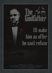 godfather mafia movie movies posters retro classic minimalistic minimal minimalist film films tv serries kkcreative kk car cars