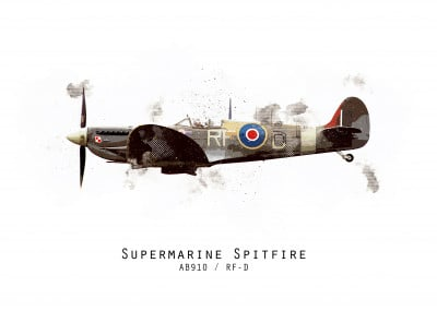 Airpower Art RAF100 Series   Displate Prints on Steel
