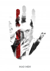 mad men tv show iconic icon legendary legend legends hand palm hands palms finger fingers print prints swav cembrzynski collection collections set collectors television shows best displate awesome cool new creative black white red slawek slawomir