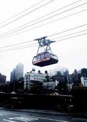 nyc manhattan newyork grau rain fog skyline architecture urban