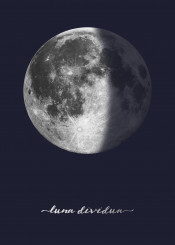 moon moons lunar space star stars latin outerspace galaxy navy blue silver minimal simple minimalism man cave sky office