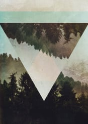 abstract abstractart illustration design graphicdesign digital digitalart forest landscape green geometry triangle