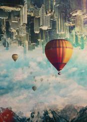 surrreal surrealism illustration design graphicdesign digital digitalart digitalmanipulation mountains city