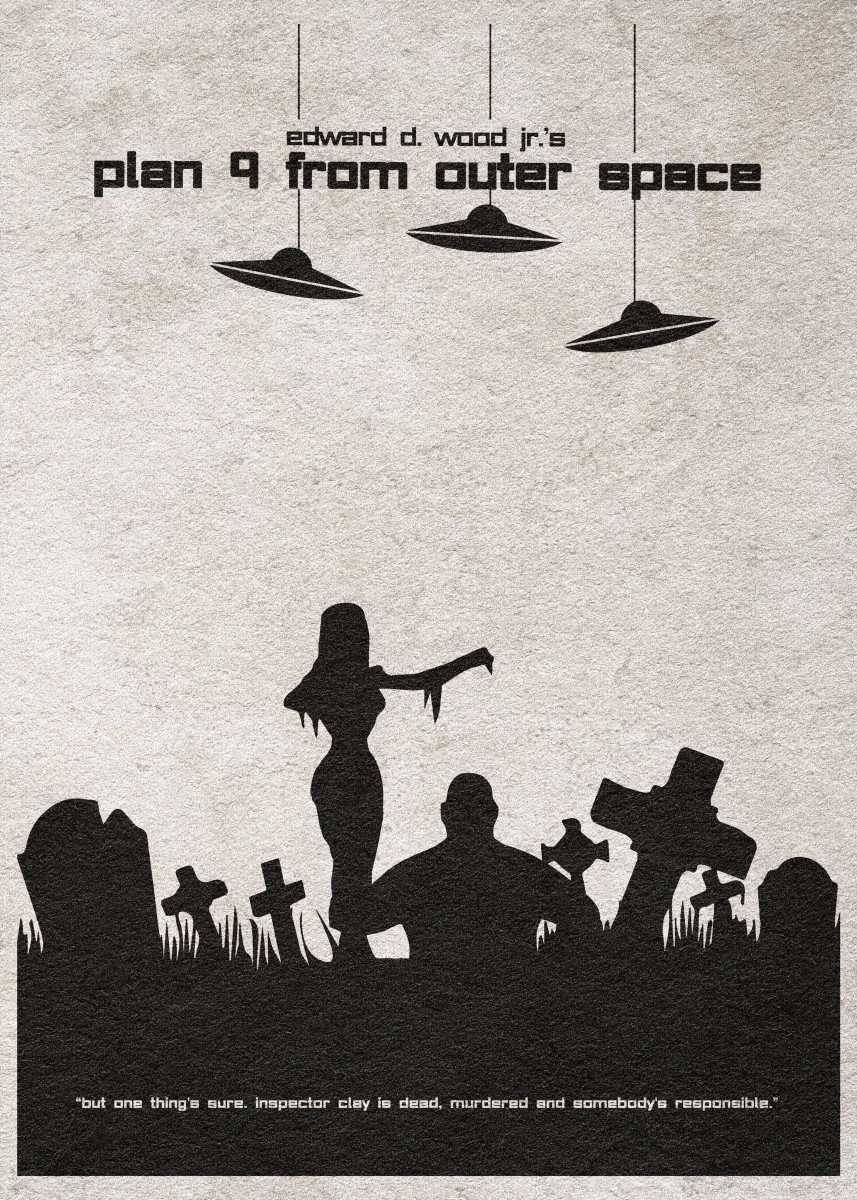Plan 9 from Outer Space Minimalist Movie Poster 370155